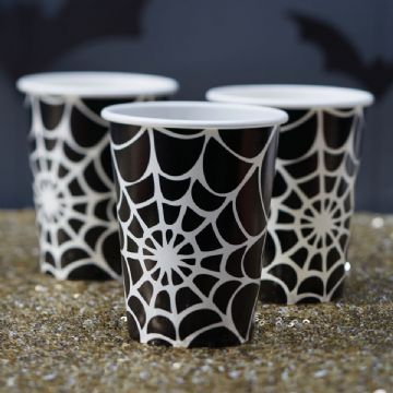 Halloween Spider Web Party Cups - pack of 8